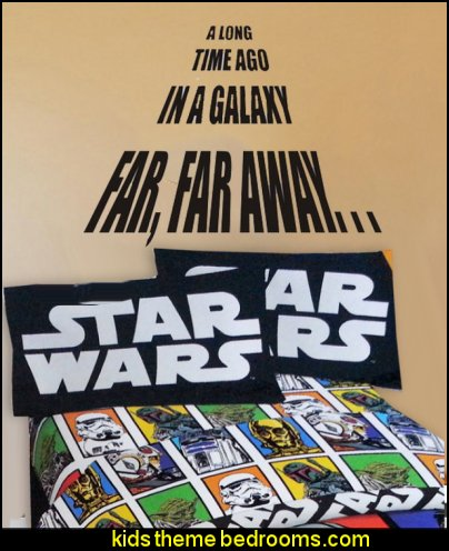 Lucas Film Star Wars Sheet Set A Long Time Ago in a Galaxy Far, Far Away-on Sale Star Wars Themed Vinyl Wall Decals