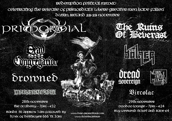 Redemption Fest 2014 @The Academy, Dublin, Irlande 28/11/2014