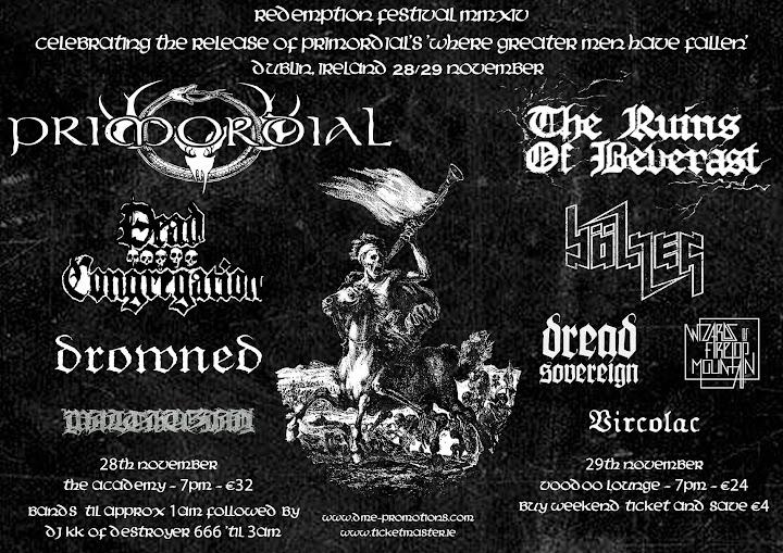 Redemption Fest 2014 @The Academy, Dublin, Irlande 28/11/2014