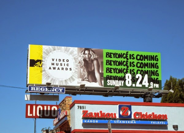 Beyoncé is coming MTV Music Video Awards billboard