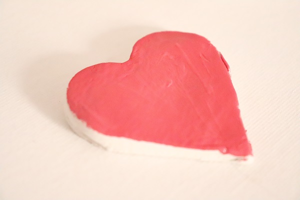 coeur en pâte autodurcissante