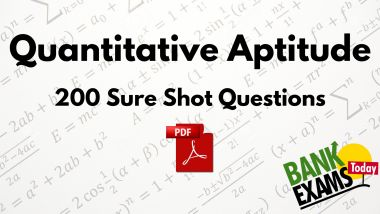 Quantitative Aptitude Questions Pdf