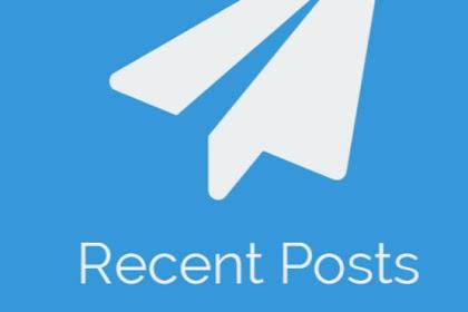 Cara Memasang Widget Recent Post Dengan Gambar