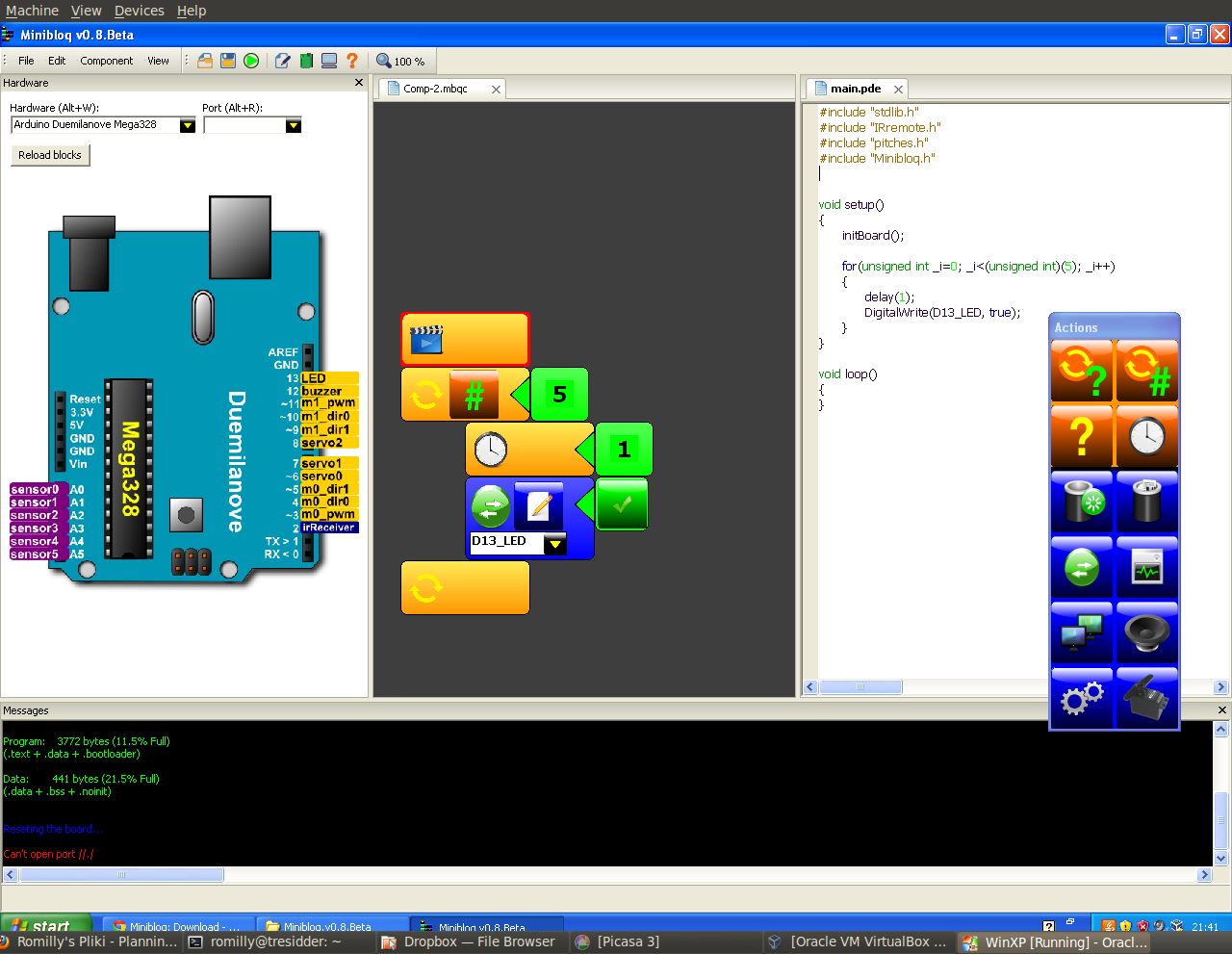 RAREblog: Minibloq - a graphical programming environment for the Arduino