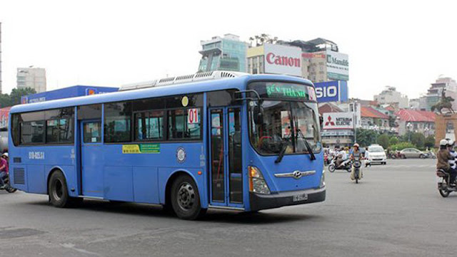 Bus Transportation in Ho Chi Minh City Viet Nam