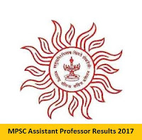 MPSC Assistant Professor Results 2017