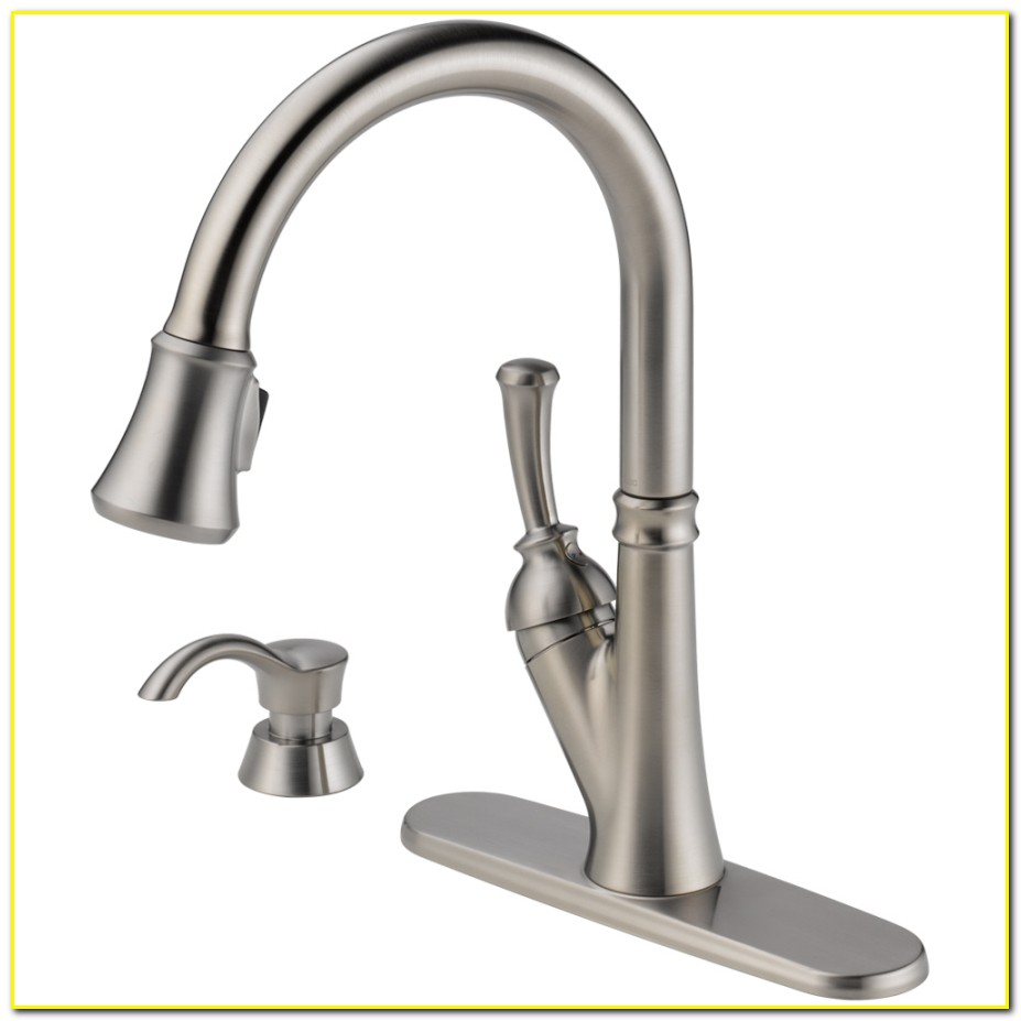 Kitchen Fauchets Lowes - Delta Savile Stainless 1-handle ...