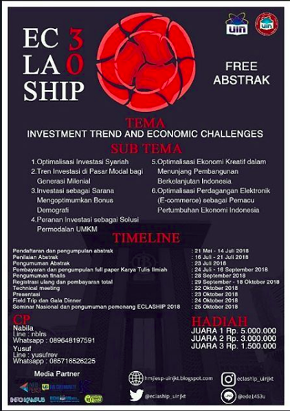 Economic Call For Paper National (ECLASHIP) 2018 Mahasiswa di UIN Jakarta