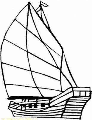 Mewarnai Gambar Kapal Laut - 2