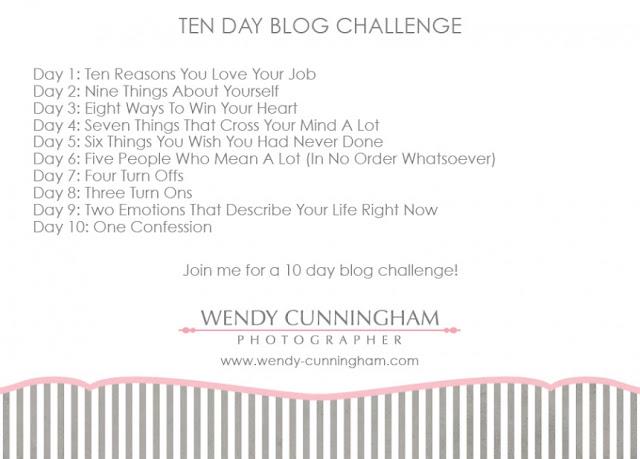 TEN DAY BLOG CHALLENGE