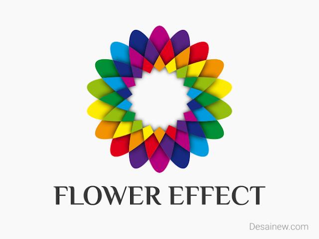 Rainbow Geometry Flower Effect Vector Design Tutorial Inkscape Adobe Illustrator