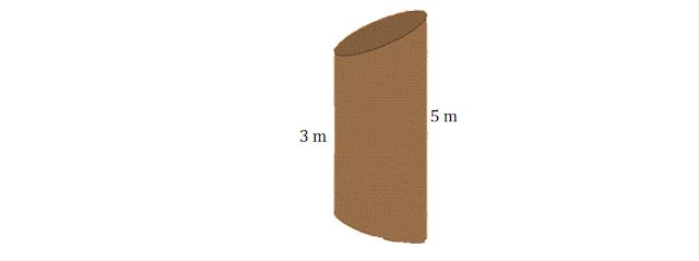 Tronco de cilindro | Exercício resolvido
