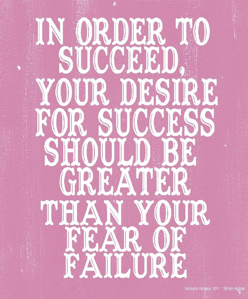 Inspirational Quotes About Failure: Designer Shirley Hudson: Success