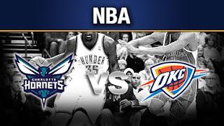 Oklahoma City Thunder vs Charlotte Hornets live streams