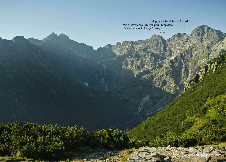 Widok na Mięguszowiecką Przełęcz pod Chłopkiem