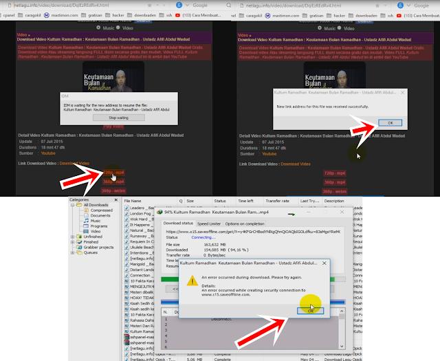 Reflace link download yang ERROR di idm 1