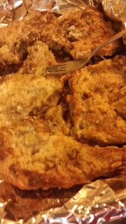 floured fried pork chops in the oven, how to oven fry pork chops, bread oven fried pork chops,