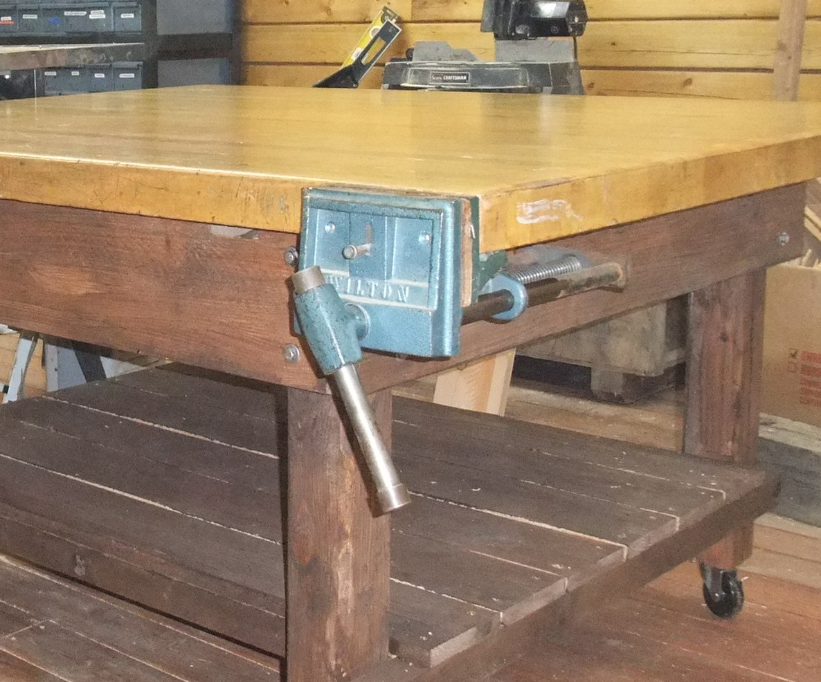 Groovy The Adventures Of Us Log Cabin Wood Shop Nifty New Work Bench Beatyapartments Chair Design Images Beatyapartmentscom