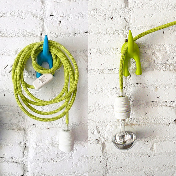 colorful pendant lamp cords