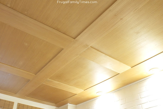 wood look plywood ceiling