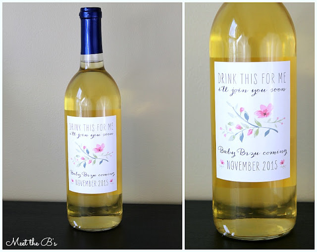 Pregnancy Announcement Idea: Wine bottle label announcement!