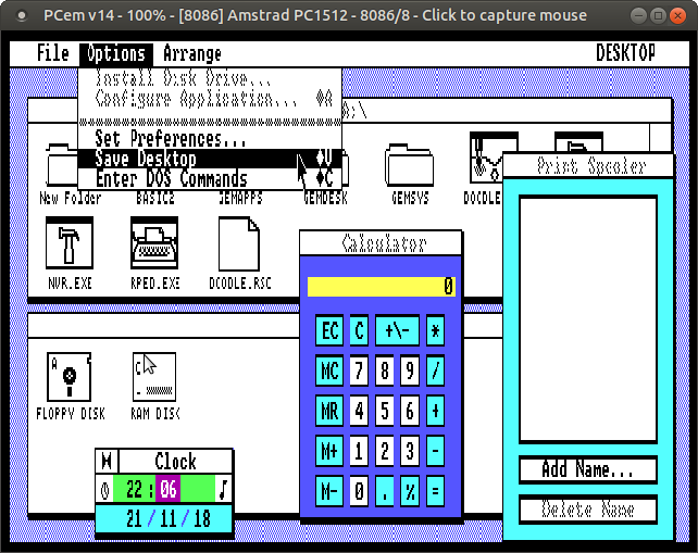 Selections of M O L (on English): PCem, old PCs emulator for GNU/Linux