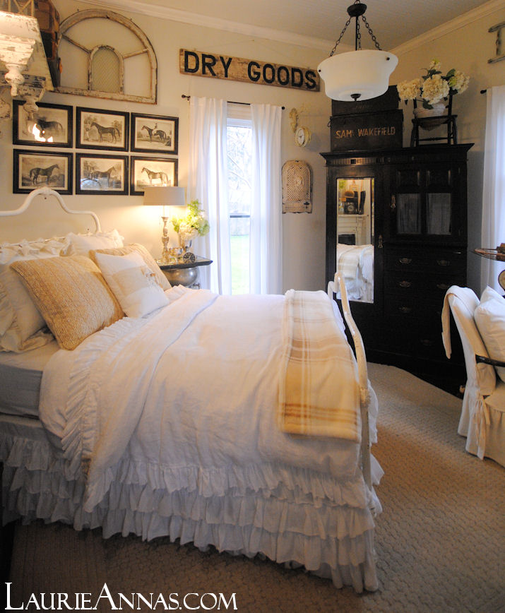 Farmhouse Bedroom: LaurieAnna's Vintage Home: Farmhouse Bedroom Reveal