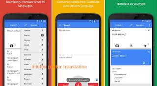 Aplikasi telefon Pintar Terjemahan