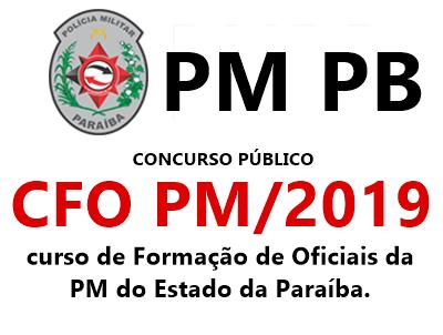Concurso da PM do Estado da Paraíba - CFO PB 2019