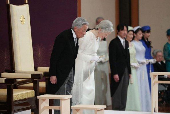 Emperor Naruhito, Empress Masako, Princess Aiko, Princess Kiko, Princess Mako, Princess Kako, Crown Prince Fumihito