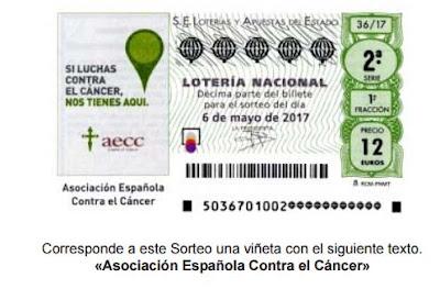 loteria nacional del sabado sorteo especial asociacion española contra el cancer