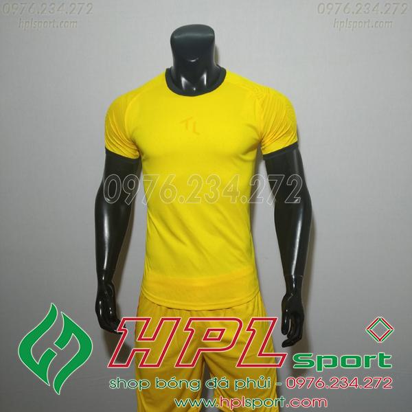 Áo bóng đá không logo TL HML Ya màu vàng