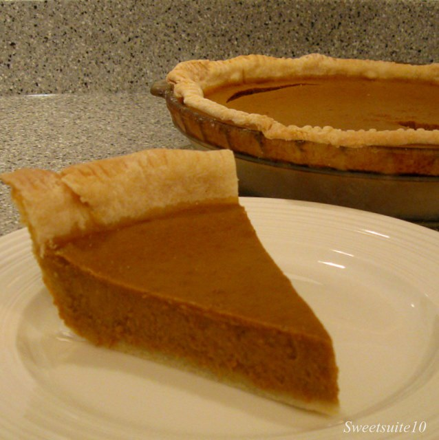 A fresh slice of Pumpkin Pie