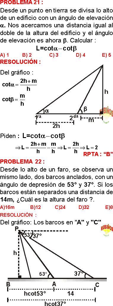 ángulos Verticales Ejercicios Resueltos Pdf