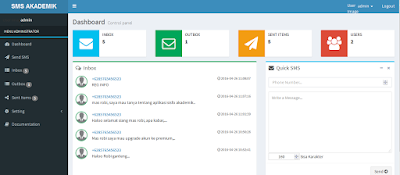 scripts SMS Gateway, Script PHP MySQL