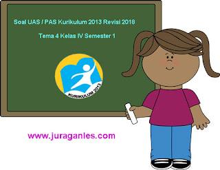 Kumpulan Download Soal UAS/ PAS Tema 4 Kelas 4 SD Semester 1 K13 Revisi 2018