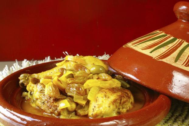 طاجين-مغربي-بالدجاج