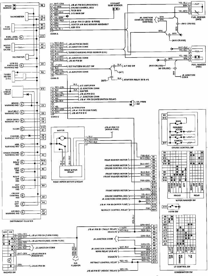 2001 Toyota Celica Gt Stereo Wiring Diagram John Deere Gator 1991 Instrument Cluster Diagrams | All About