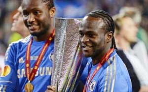 Mikel Obi and Victor Moses | Chelsea