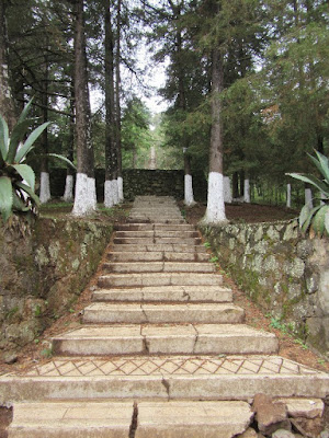 The stairway at the Estribo Grande in Patzcuaro