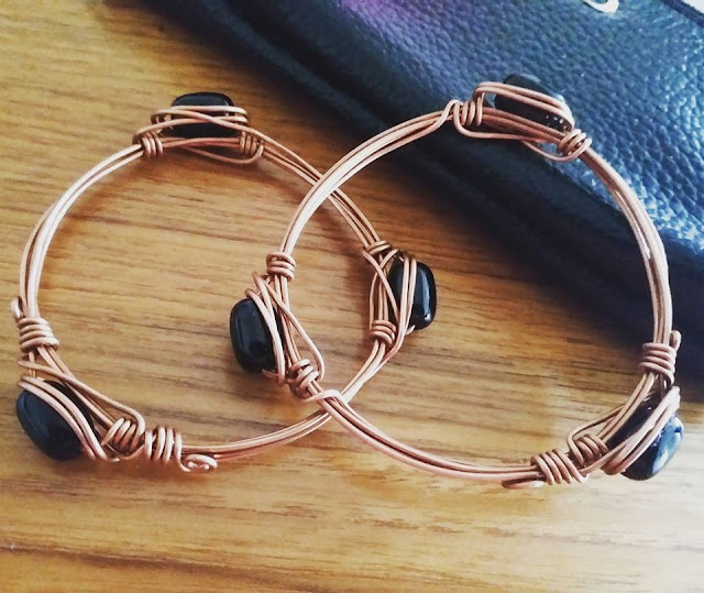 Copper Bracelets/Bangles, Copper Jewelry India, Wire Wrapped Jewellery