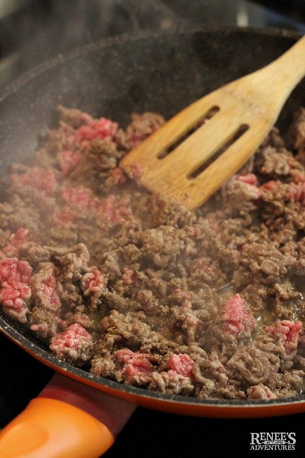 Carne Picada browning ground beef
