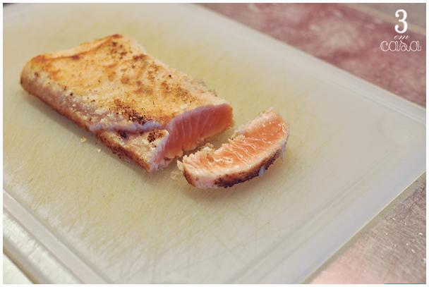 como fazer salmão toast