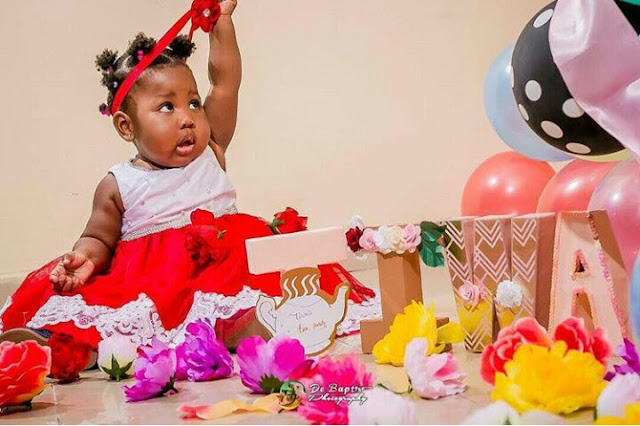 Comedian Seyilaws Daughters 1st Birthday Shoot Is All Shades Of
