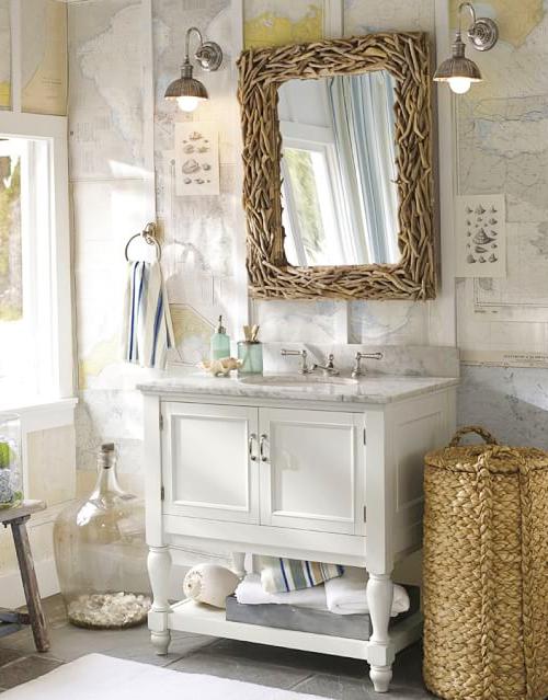 Driftwood Mirror in Bathroom
