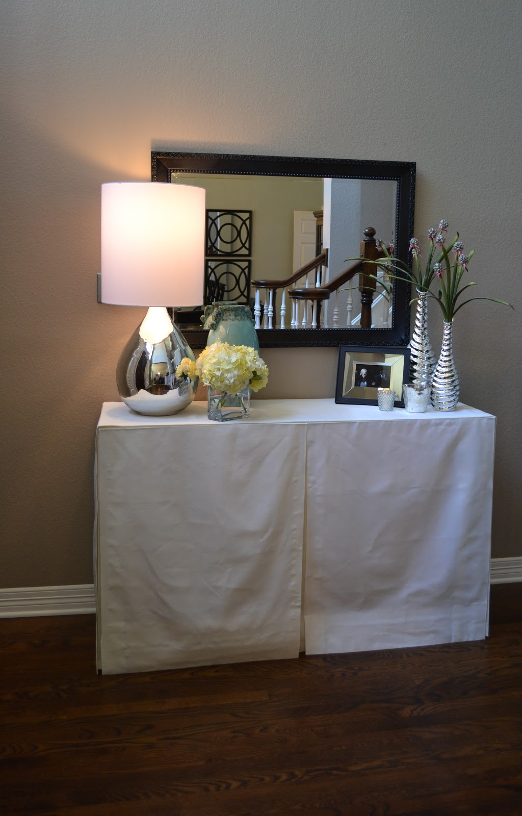 Modern Maizy Diy No Sew Skirted Console Table