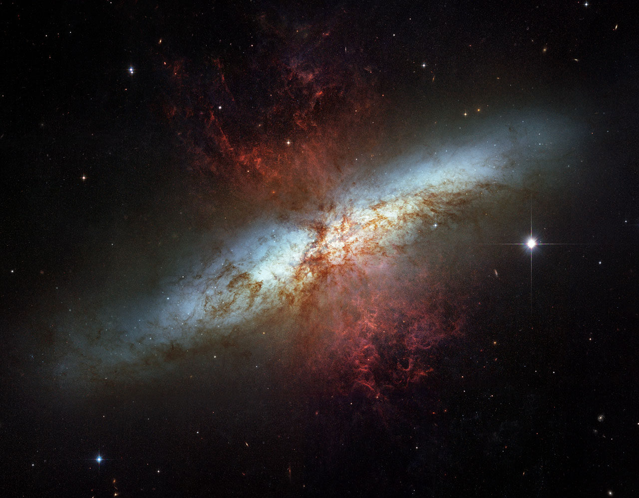 esempio di galassia starbust