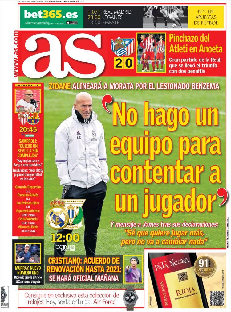 portada As 06/11/2016