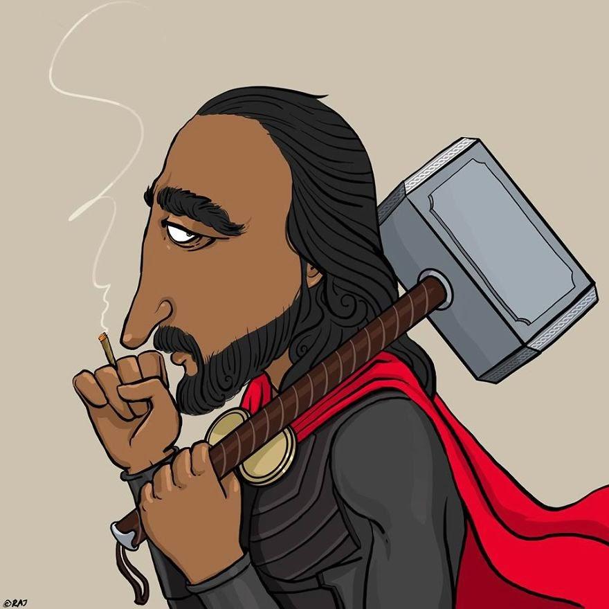 Thor estilo Hindú