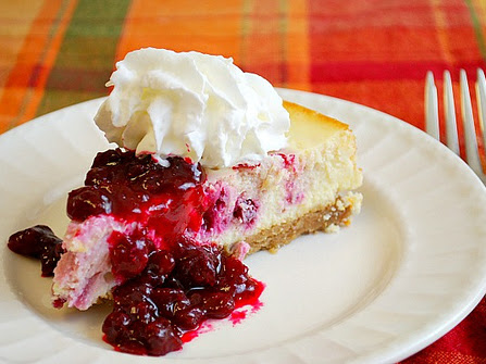 Instant Pot: Cranberry Swirl Cheesecake